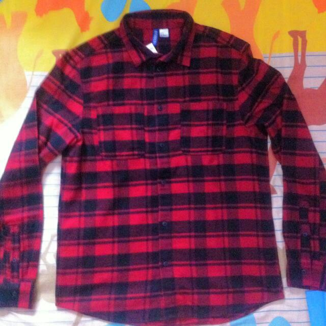 H&M Flanel Shirt Red