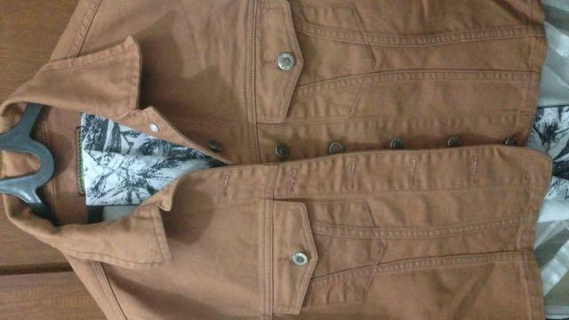 Jaket Jeans (tanpa Lengan)