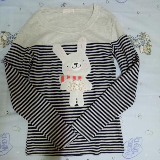 PAKET D-Kaos lengan panjang bunny
