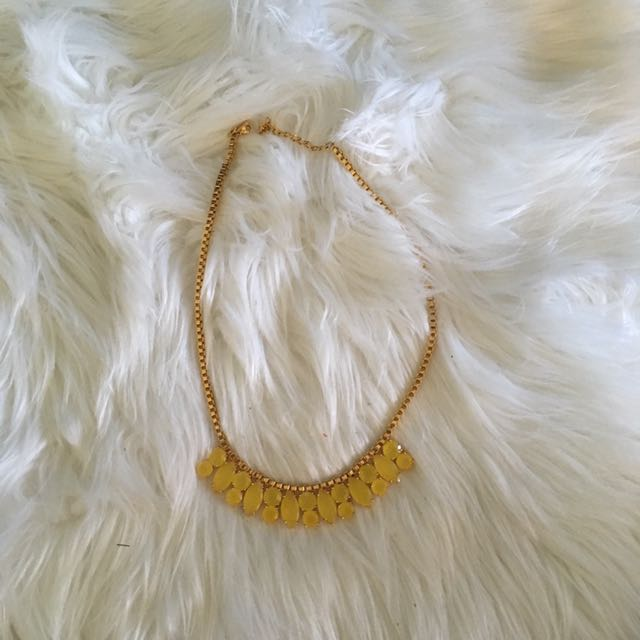 Kate Spade Gold& Yellow Necklace
