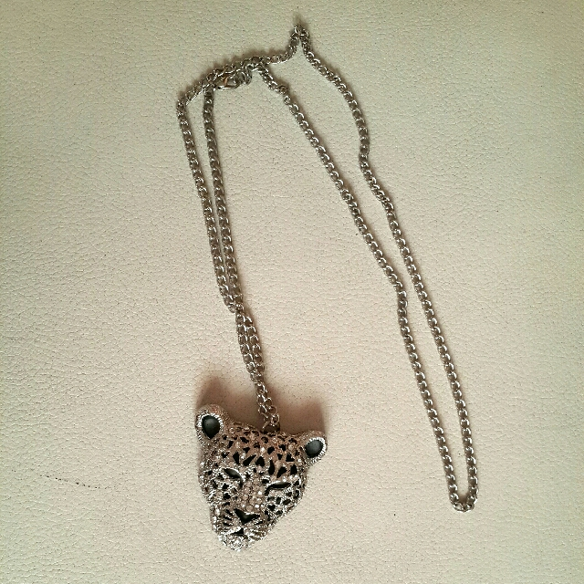 Leopard Silver Necklace