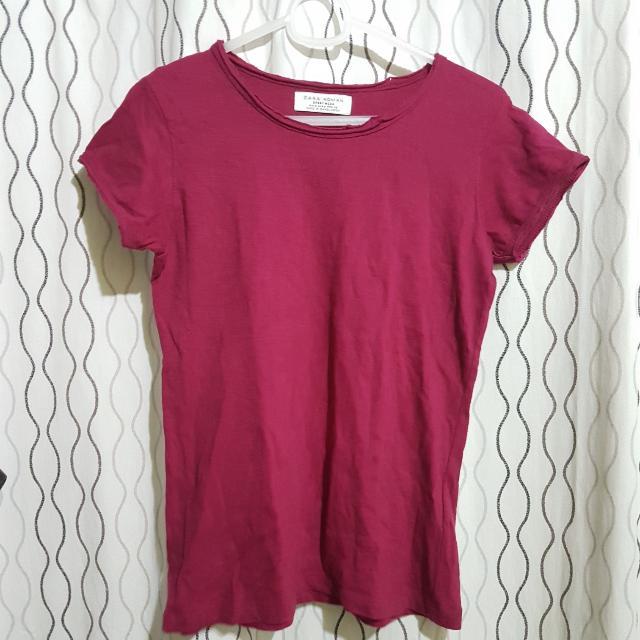 Maroon Zara T-Shirt