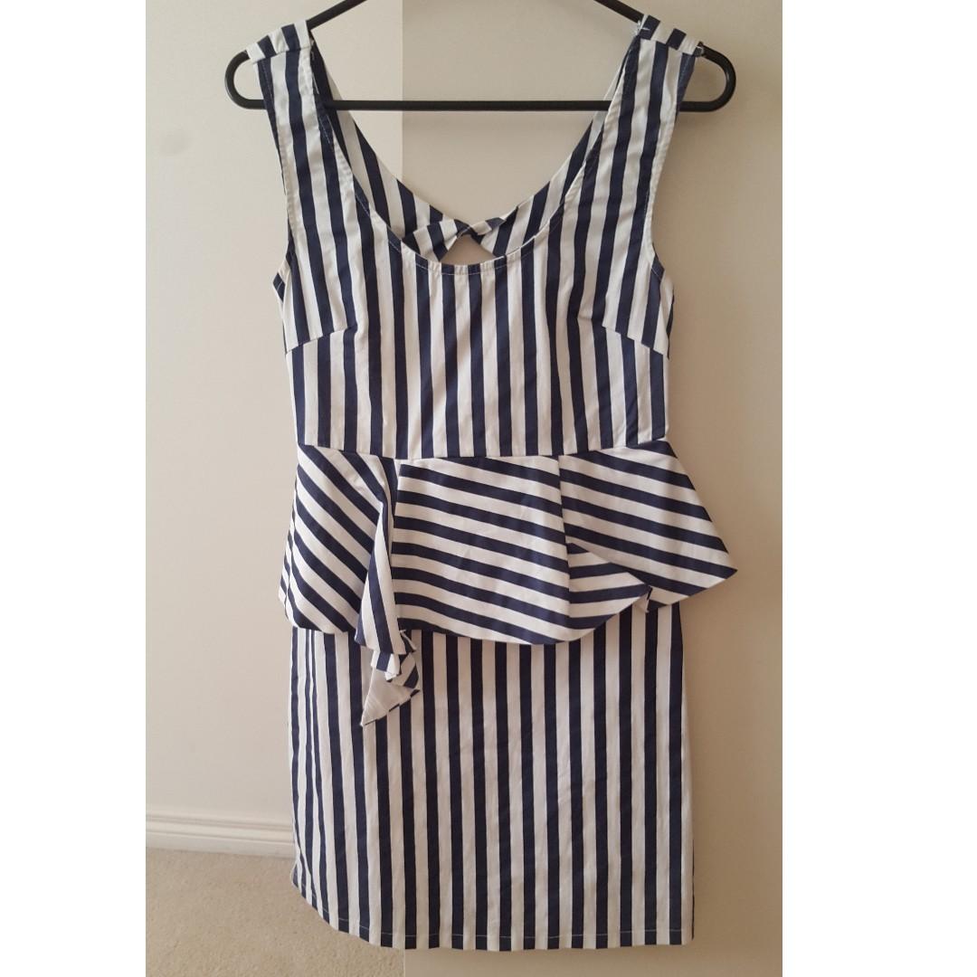 Maxim stripe dress