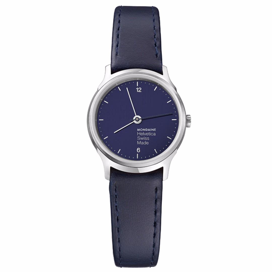 MONDAINE 瑞士國鐵設計系列限量腕錶-海軍藍/26mm 型號:XM-1L1140LD