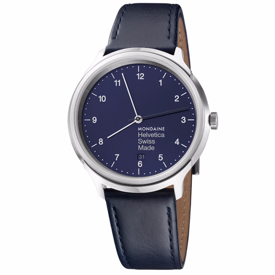 MONDAINE 瑞士國鐵設計系列限量腕錶-海軍藍/40mm
