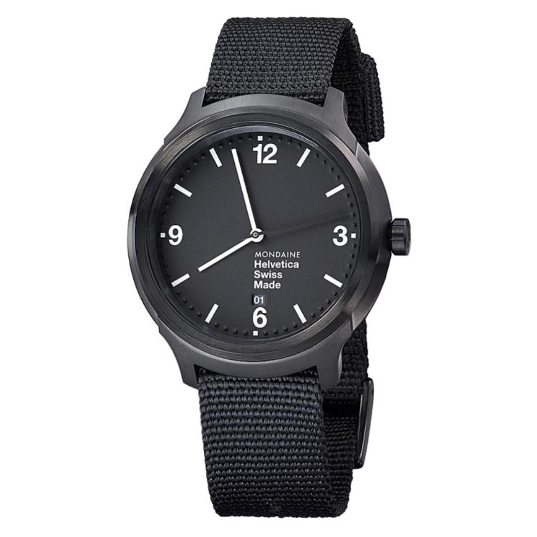 MONDAINE 瑞士國鐵設計系列腕錶-IP黑/43mm