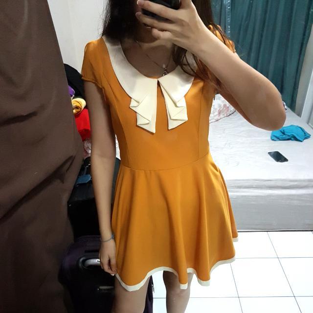 Mustard Sailor Dress