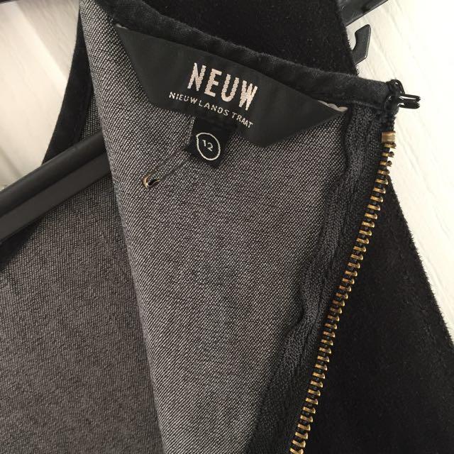 Neuw Black Velvet Skater Dress