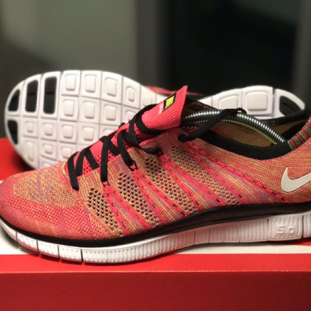 Nike Free Flyknit NSW Pink Flash US 10