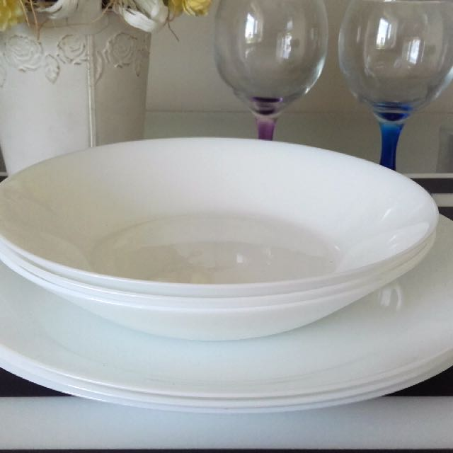 Super Oftast Tempered Glass Plate Deep Plate Ikea, Kitchen & Appliances  KR28