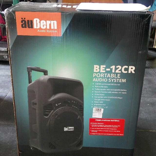 Portable Audio System,speaker Portable,Bluetooth Speaker AUBERN BE-12CR