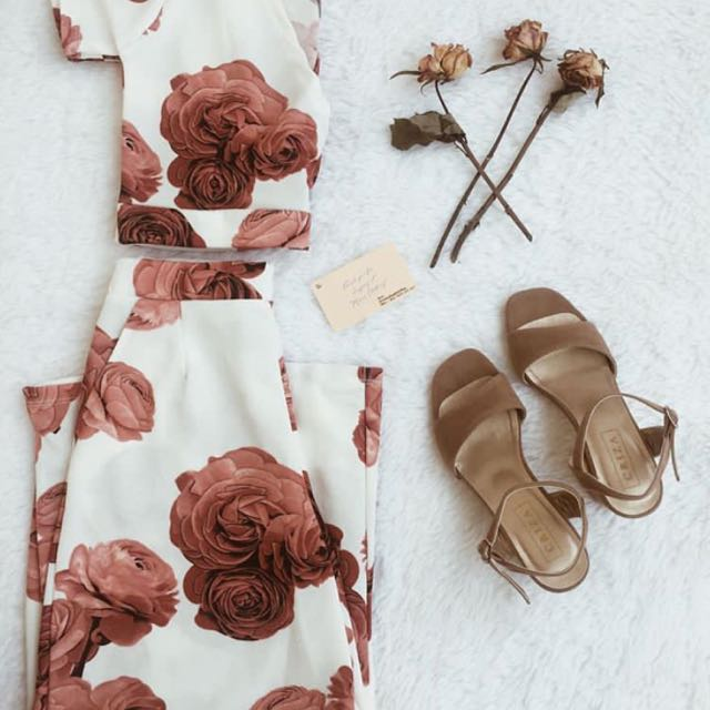 Printed Top And Pants Set/Coords