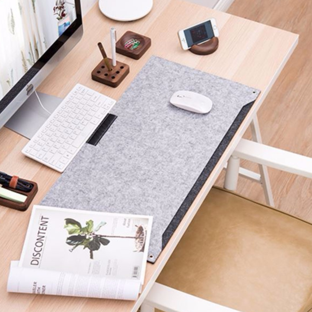 Protective Desk Mat Mouse Pad (Dual layer) + free gift