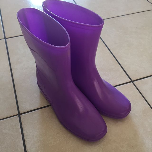 Purple Rainboots