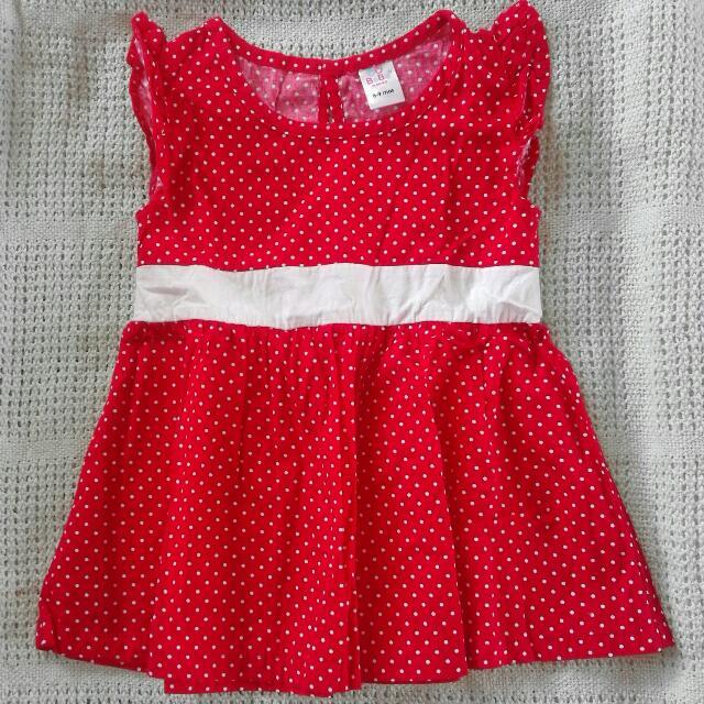 Red Polka Dots Baby Dress