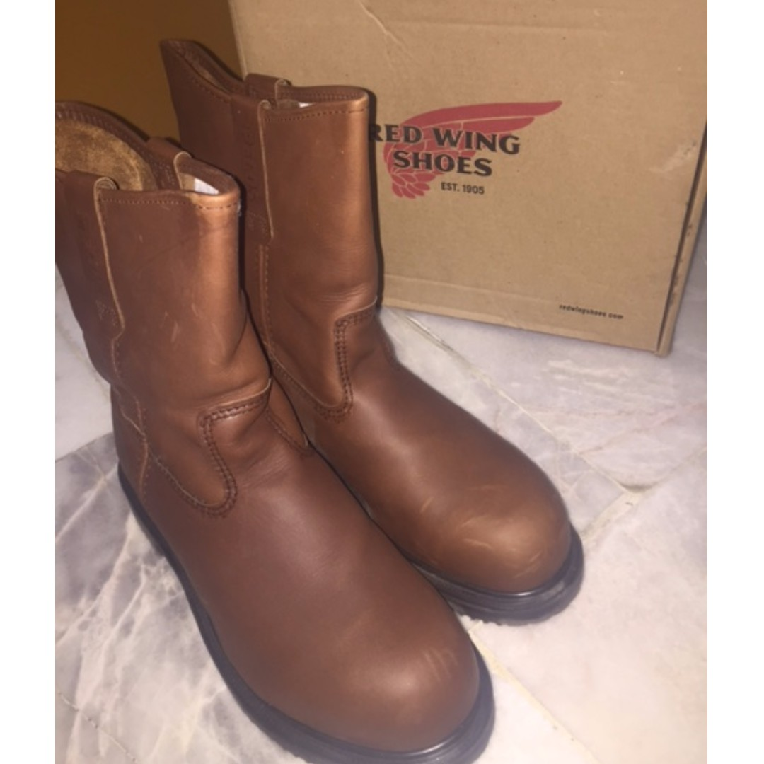 Red Wing Safety Shoes Men - Brown Pecos 8242 10UK