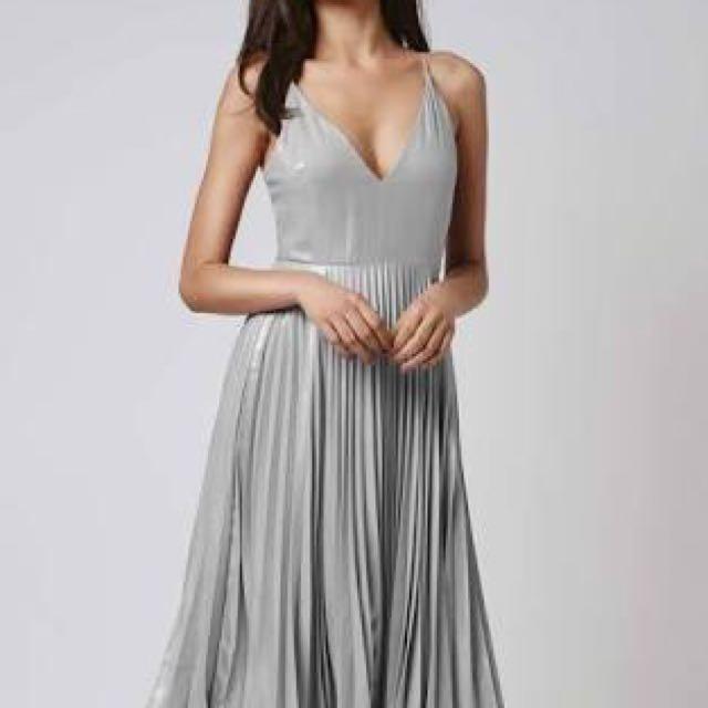 Silver Bardot Dress