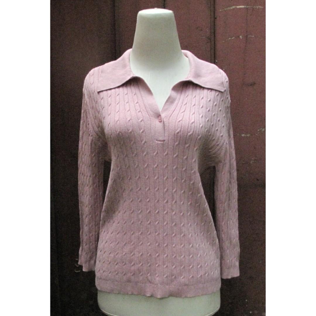 Sweater Rajut Pink