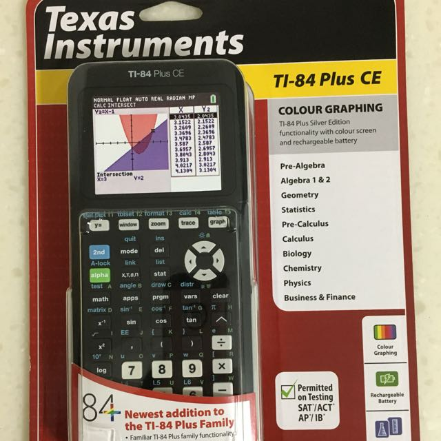 Texas Instruments Graphing Calculator TI-84 Plus CE, Books