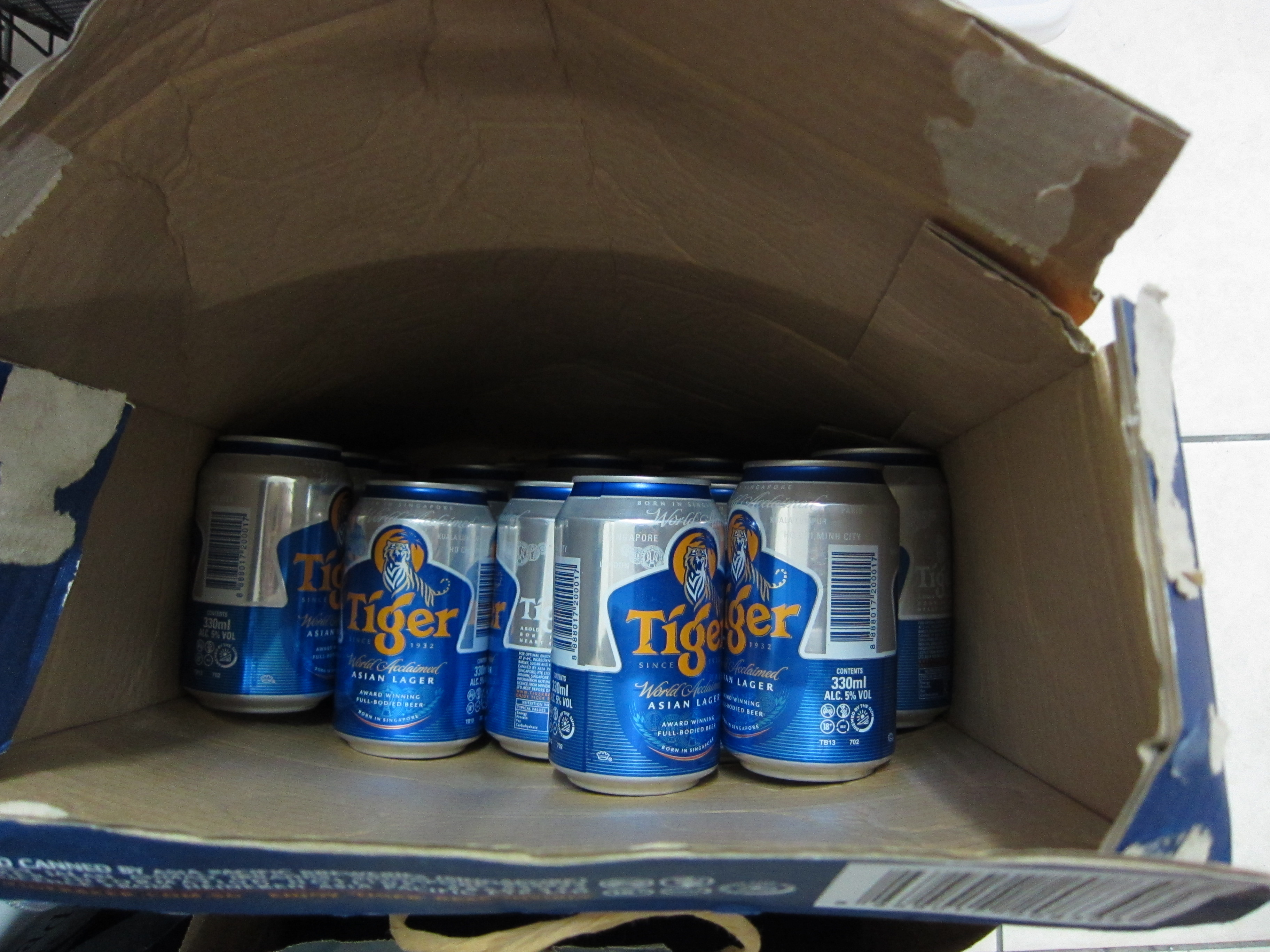 Tiger beer, 17 cans * 330ml