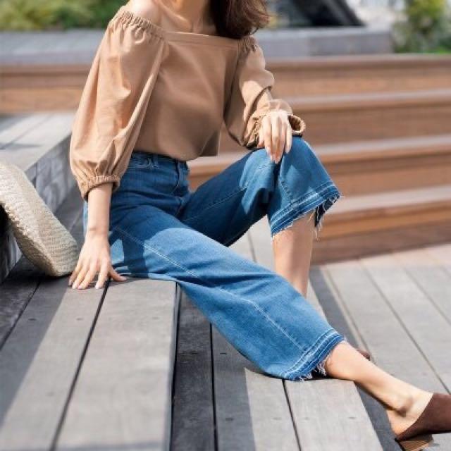 Uniqlo 日系七分寬版牛仔褲 (附實穿照)