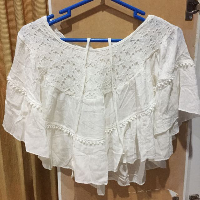 WHITE SUMMER OUTER  MURAH