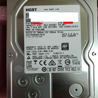 99%NEW HGST 日立 4TB 7200rpm server/NAS HDD