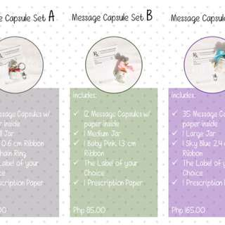 Message Capsules with Jar Sets