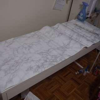 Marble IKEA Desk