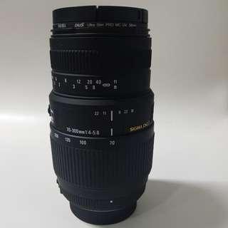 Sigma Lens 70-300mm f/4-5.6 DG
