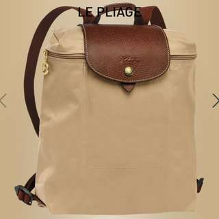 [NEW] LONGCHAMP Beige Backpack 米色背包