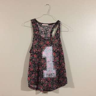 Flower Tank Top With The Number