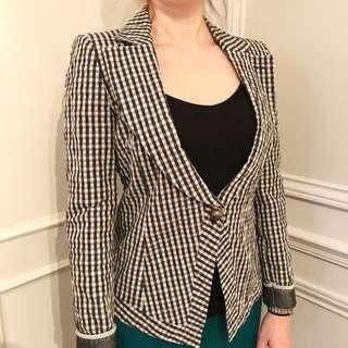 Emporio Armani Checkered Blazer