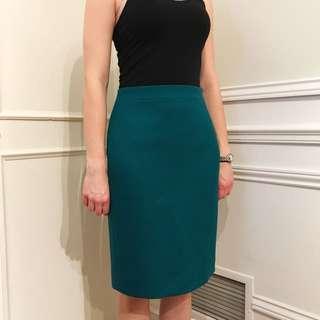 J Crew Pencil Skirt Green