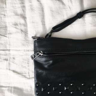 Studded Black Cross-body Bag