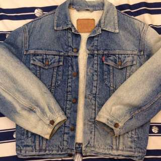 Levi's 刷毛牛仔外套