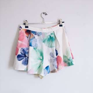 Dolly girl morning mist brand floral layered dress shorts