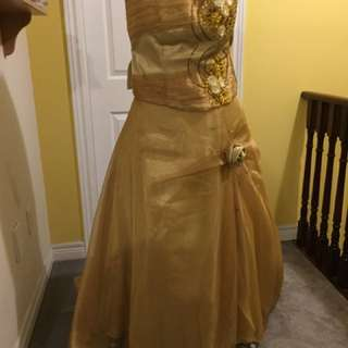 Gold Three-Piece Ballgown