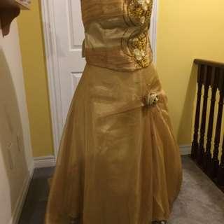 Gold Three-Piece Ballgown