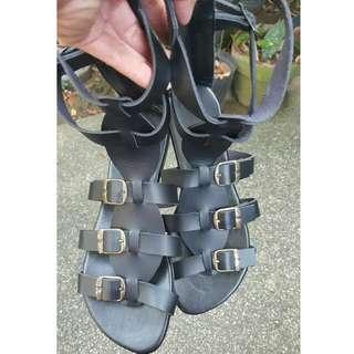Marikina Made Black Gladiator Sanldals Sz7