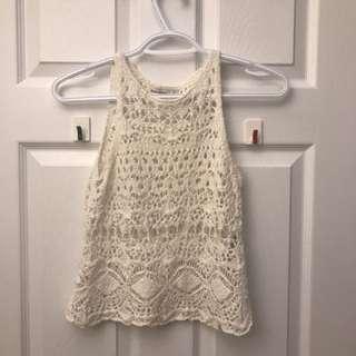 Crochet White Tank Top
