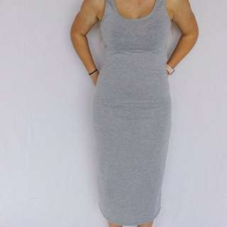 Mid Length Grey Dress