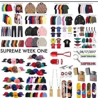 Supreme FW 17 WEEK 1 Drop