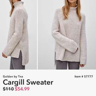 Aritzia Golden Cargill Sweater