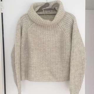 Zara Knit Crop Turtleneck