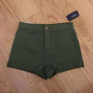 Olive Green Shorts From Forever 21