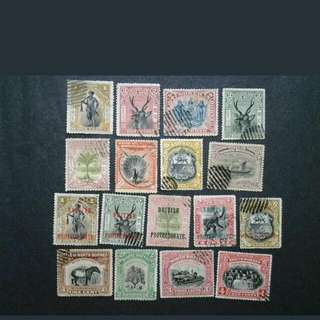 North Borneo 1893-1909 Mix Collection - 17v Used Malaya Stamps
