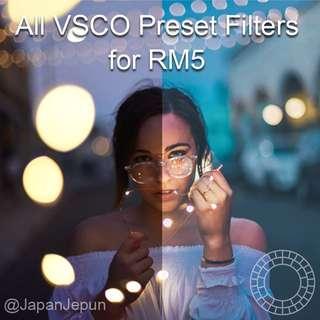 COMPLETE VSCO PRESET FILTERS