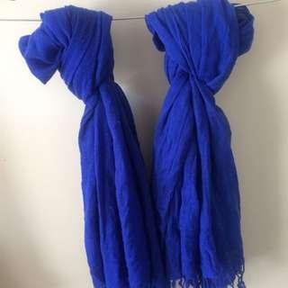 Royal blue Scarves
