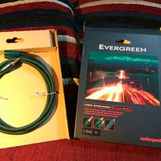 Audioquest Evergreen 3.5mm to 2 RCA Cable (Genuine Audioquest Cable BNIB 1.5m)